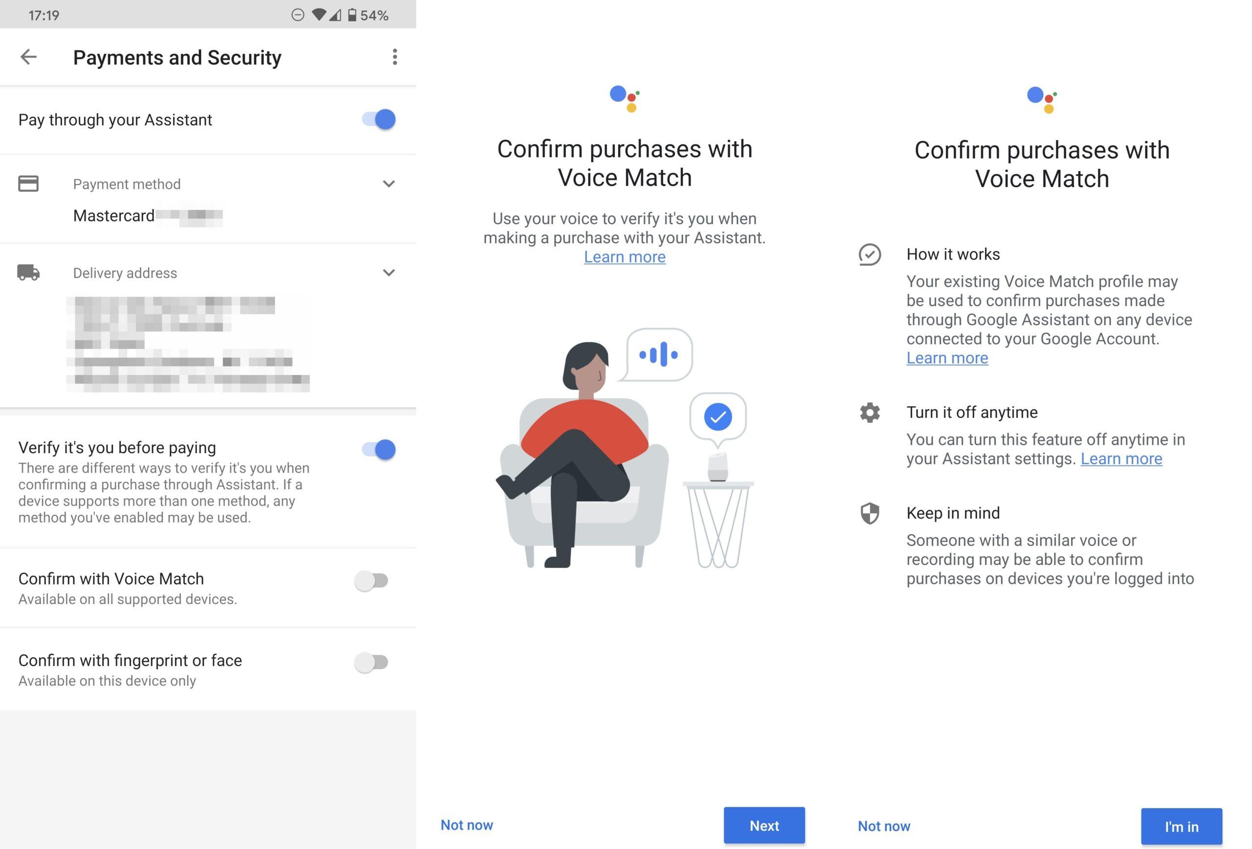 Google Sesli Ödeme