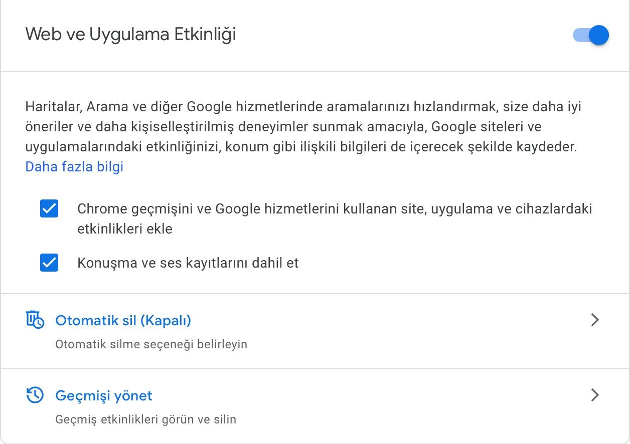 Google verileri