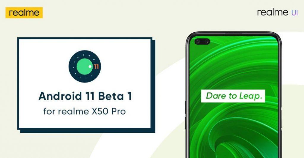 realme X50 Pro için Android 11