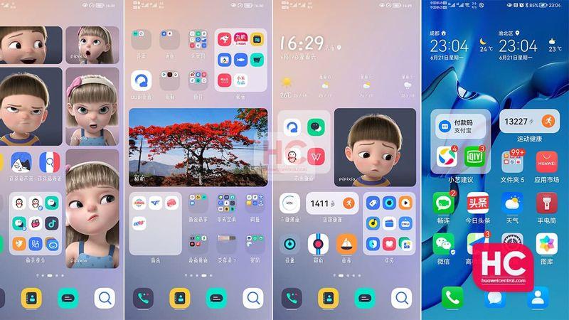 HarmonyOS 2.0 yüklü P30 Pro ve P30'dan bazı ekran görüntüleri...