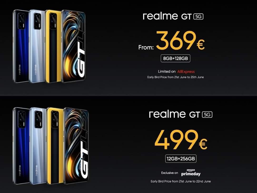 Realme GT 5G fiyatı