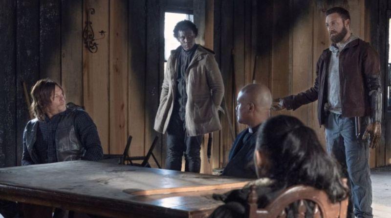 The Walking Dead 12. sezon çekimlerinden bir sahne